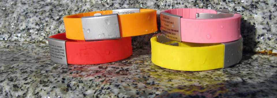 sportstagid id bracelets ,childrens id bracelets, medical pendents